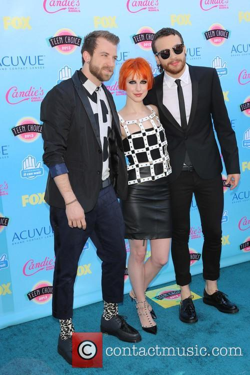 Jeremy Davis, Hayley Williams and Taylor York Of Paramore 1