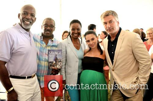 Dan Gasby, Frank Savage, B.smith, Hilaria Baldwin and Alec Baldwin 2