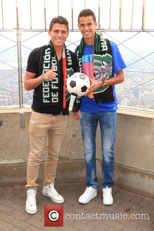 Mexican Footballers at ESB, Empire State Building, Empire...