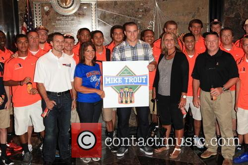 Mike Trout, And Millville High School Team and Body Armor 3