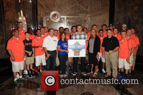 Mike Trout, And Millville High School Team and Body Armor 6