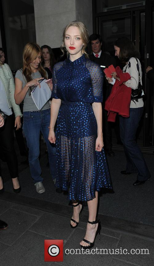 Amanda Seyfried out and about in London, promoting her new film 'Lovelace'
