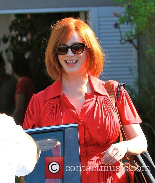 christina hendricks was pictured in brentwood