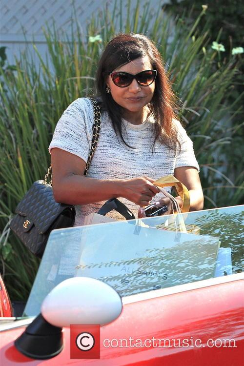 mindy kaling was pictured in brentwood