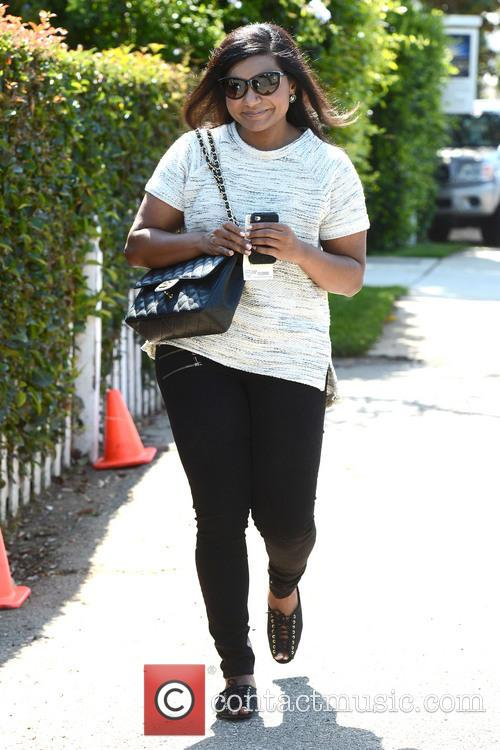 Mindy Kaling Attends a Private Party in Brentwood