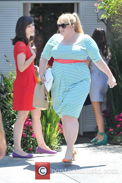 Rebel Wilson leaves a private party in brentwood