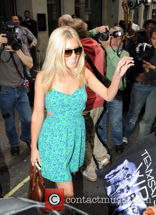 Mollie King leaving The May Fair hotel