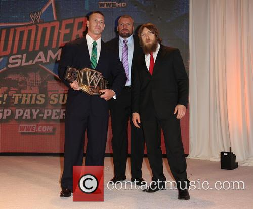 "John Cena, Paul ""triple H"" Levesque and Daniel Bryan 10"