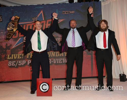 "John Cena, Paul ""Triple H"" Levesque and Daniel Bryan 3"