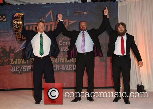 "John Cena, Paul ""Triple H"" Levesque and Daniel Bryan 4"