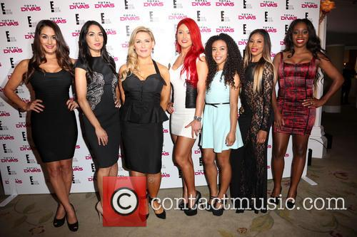 Nikki Bella, Brie Bella, Natalya, JoJo, Cameron, Naomi, Beverly Hills Hotel