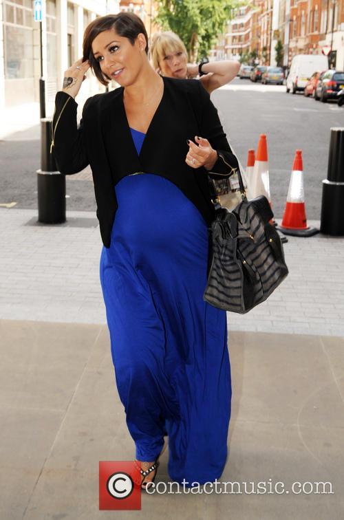 Frankie Sandford arrives at the BBC Radio 1...