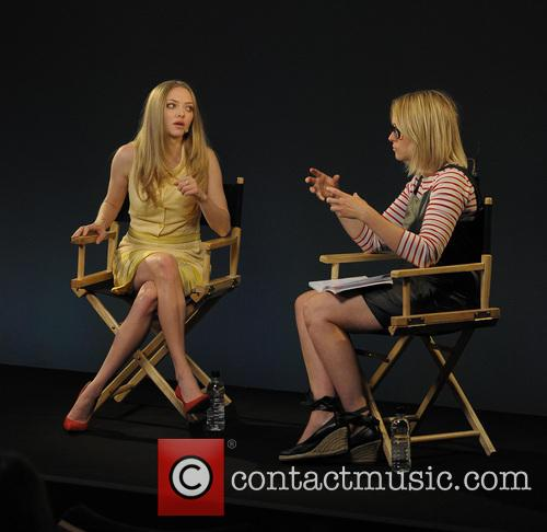 Amanda Seyfried visits the Apple store on Regent Street, to talk about her latest film 'Lovelace'