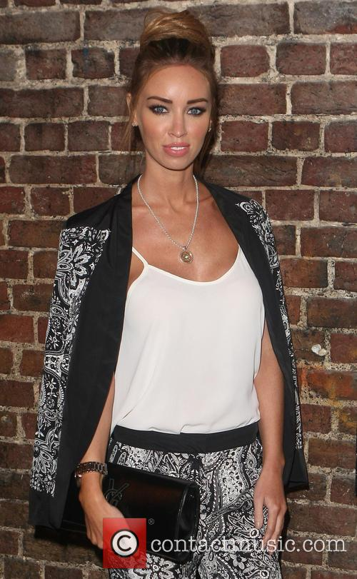 Lauren Pope arriving at the WAG Musical