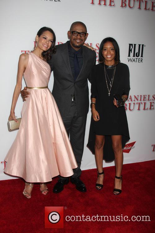 Keisha Whitaker, Forest Whitaker and Autumn Whitaker 1