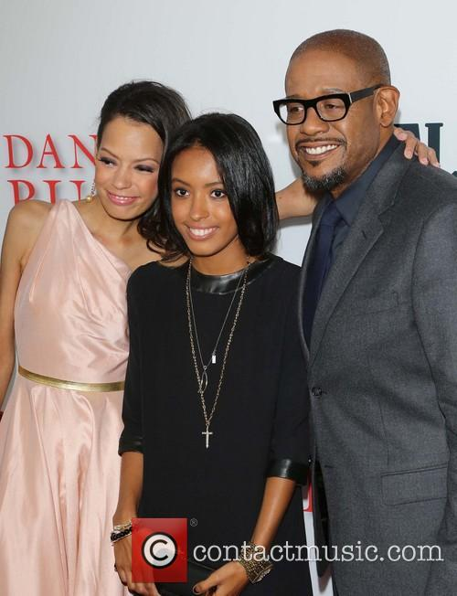 Keisha Whitaker, Autumn Whitaker and Forest Whitaker 6