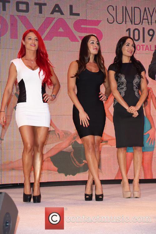 Eva Marie, Nikki Bella and Brie Bella 5