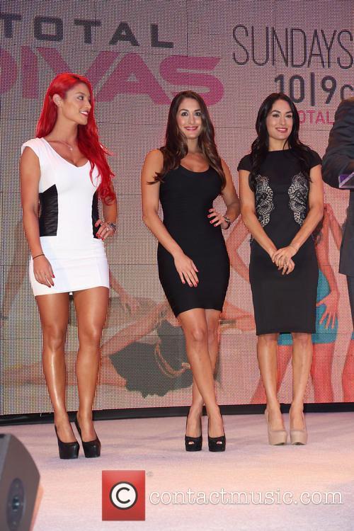 Eva Marie, Nikki Bella and Brie Bella 6