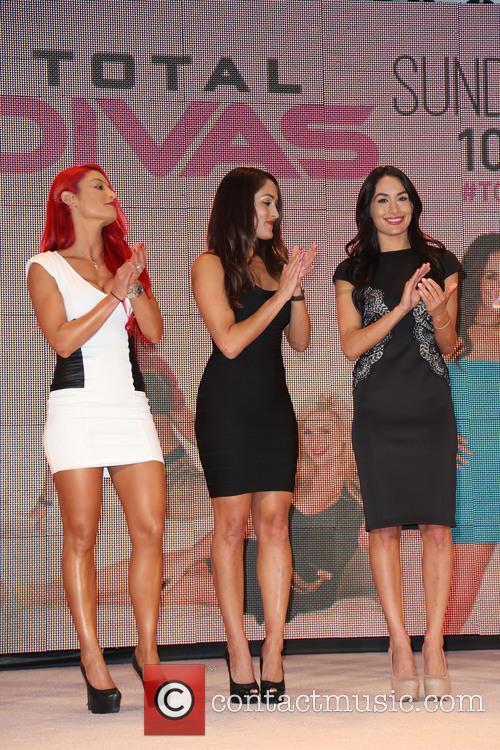Eva Marie, Nikki Bella and Brie Bella 7