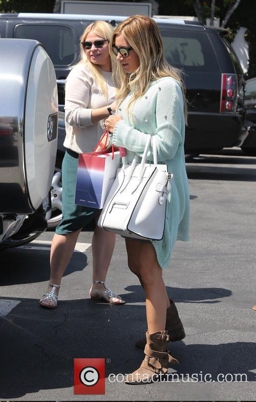 Ashley Tisdale seen shopping at Fred Segal