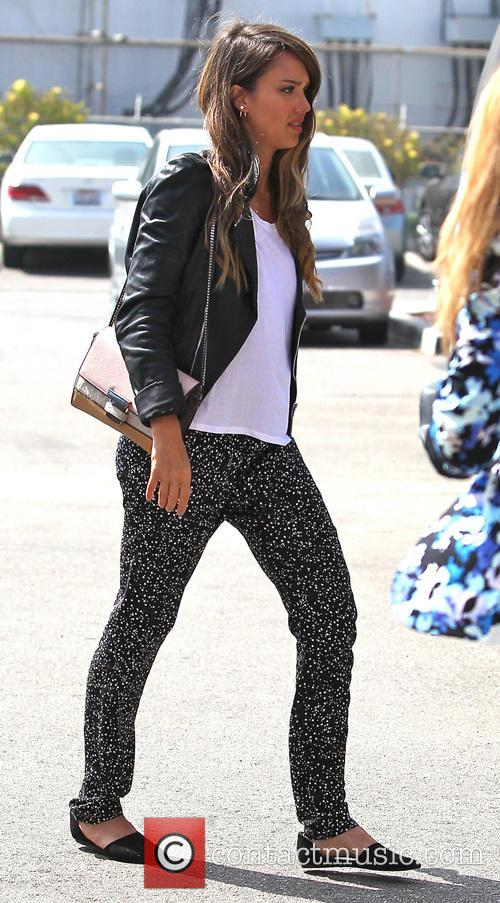 Jessica Alba seen arriving at an office