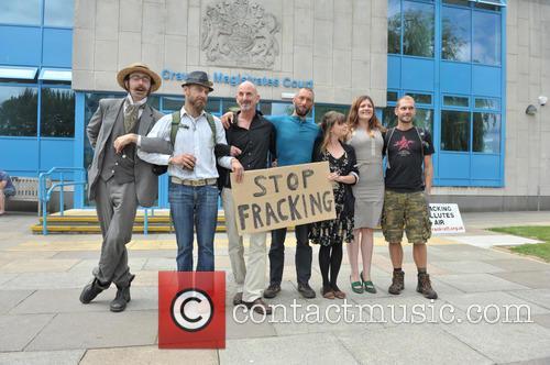 Arrested Protesters L/r Ezra Lynch, Marcin Swiercz, Mark Mansbridge, Justin Preece, Nancey Walker, Frances Crack and Richard Miller 4