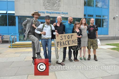 Arrested Protesters L/r Ezra Lynch, Marcin Swiercz, Mark Mansbridge, Justin Preece, Nancey Walker, Frances Crack and Richard Miller 5