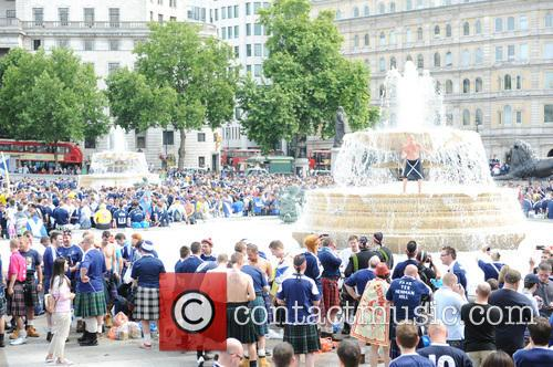 Scottish Supporters at Trafalgare Square