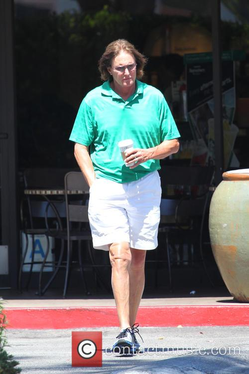 Bruce Jenner stop for a coffee at Starbucks