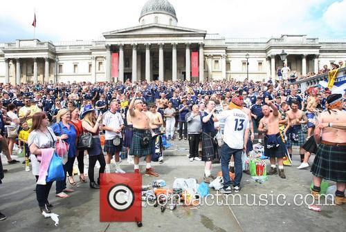Scottish Supporters at Trafalgare Square