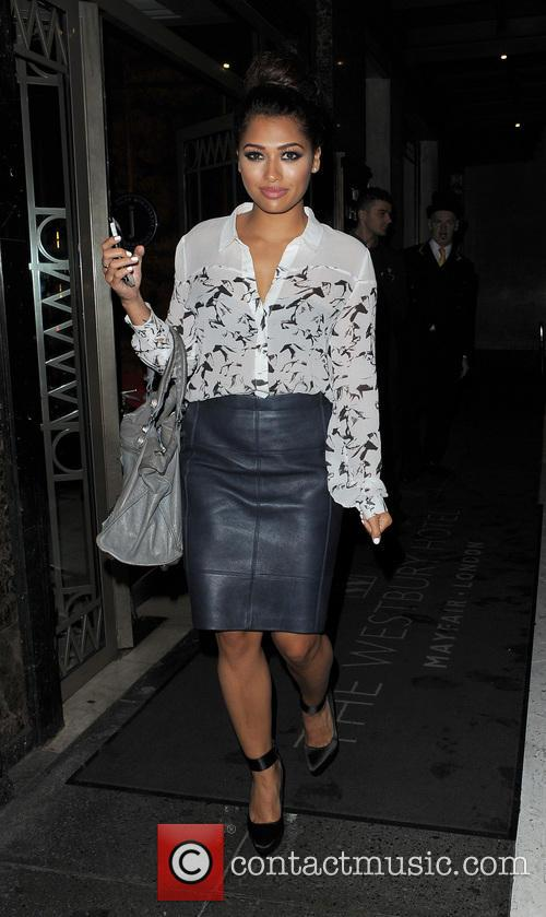 vanessa white the saturdays leaving their hotel 3816340
