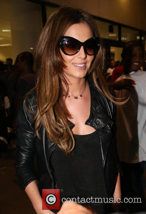 Cheryl Cole arrives at Los Angeles International Airport