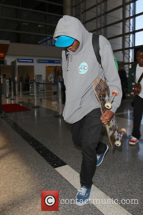 Tyler the Creator seen arriving at LAX Airport.