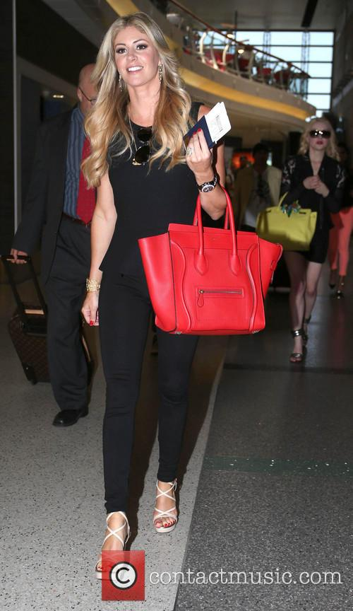 Taylor Armstrong arrives at LAX (Los Angeles International)...