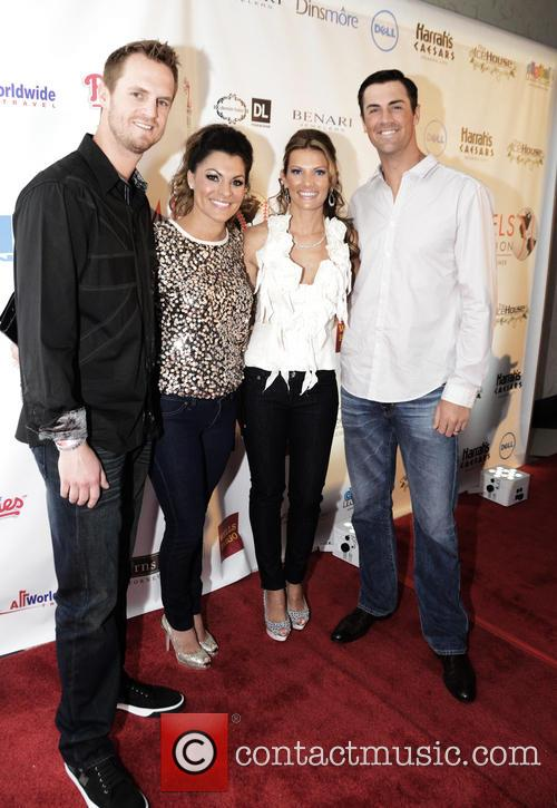 Kyle Kendricks, Stephenie Kendricks, Heidi Hamels and Cole Hamels 2