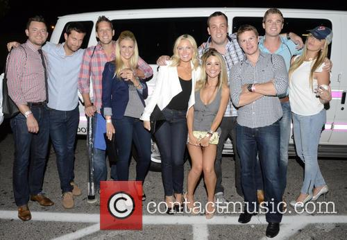 The Bachelors & Bachelorette's Arrived In Their Party Van At Zee Bar, Looking Forward To Partying A Little More. (below) Frank Neuschaefer, Chris, Peyton Lambton, Sarah Herron, Ashley Spivey, Steven Hunsberger, Craig Robinson, Ben Scott and And Rachel Truehart Arriving At The After Party At Zee Bar. 9