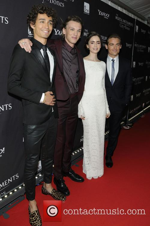 Robert Sheehan, Jamie Campbell Bower, Lily Collins and Kevin Zegers 3