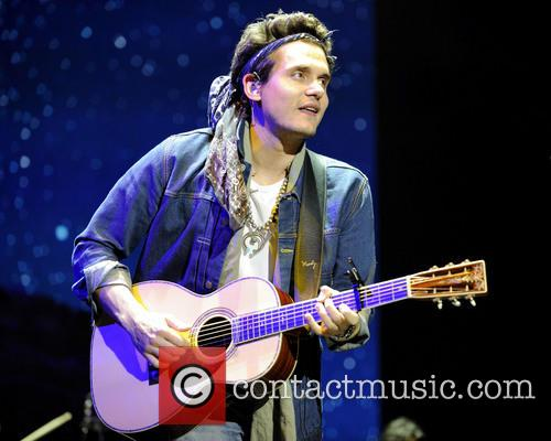 John Mayer performing