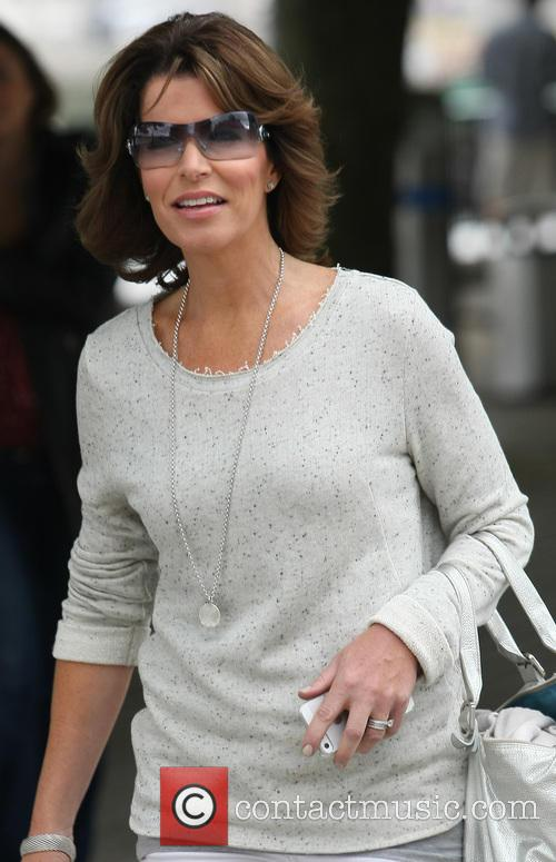 Natasha Kaplinsky walking on the south bank