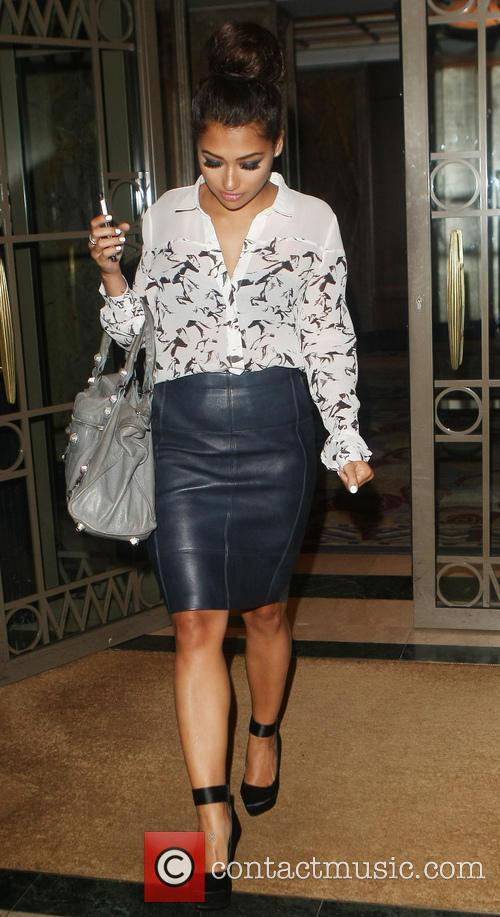 Rochelle Humes and Vanessa White a hotel