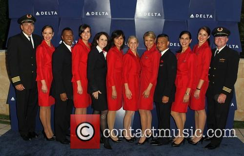 Celebration and Delta Airlines Crew 5