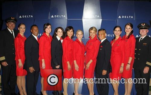 Celebration and Delta Airlines Crew 9