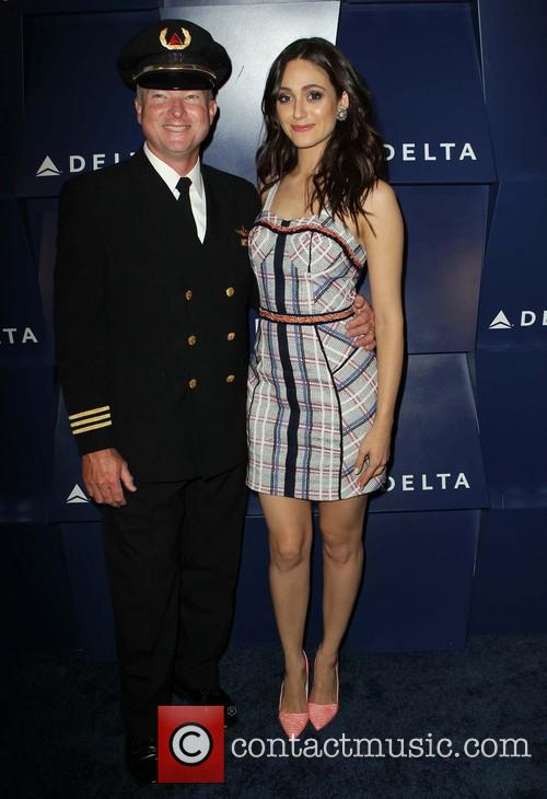 Emmy Rossum and Delta Pilot 2