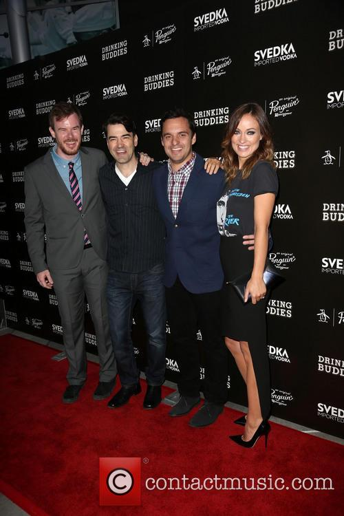 Joe Swanberg, Ron Livingston, Jake Johnson and Olivia Wilde 2