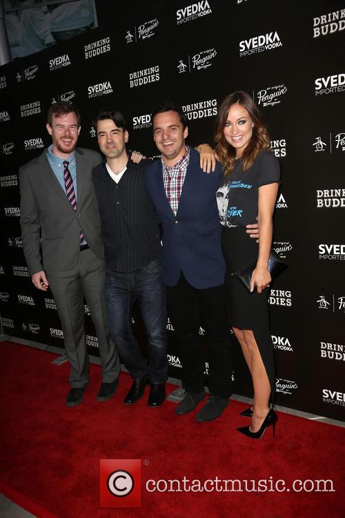 Joe Swanberg, Ron Livingston, Jake Johnson and Olivia Wilde 3