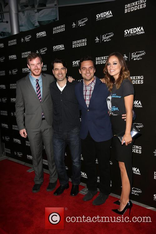 Joe Swanberg, Ron Livingston, Jake Johnson and Olivia Wilde 4