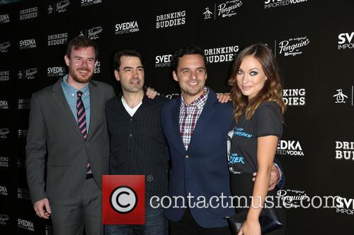 Joe Swanberg, Ron Livingston, Jake Johnson and Olivia Wilde 7