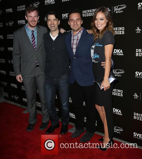 Joe Swanberg, Ron Livingston, Jake Johnson and Olivia Wilde 9