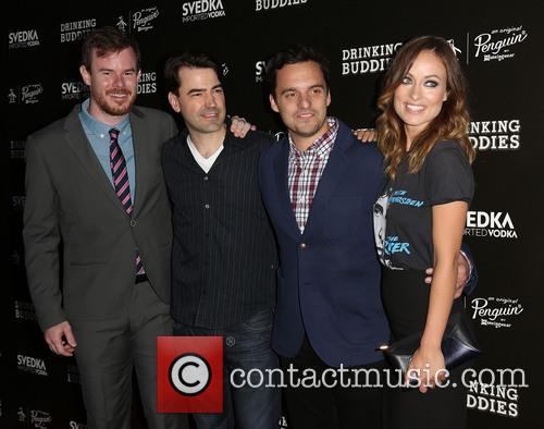Joe Swanberg, Ron Livingston, Jake Johnson and Olivia Wilde 1