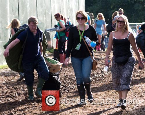 Festival-goers arrive at V Festival